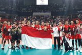 Tim bola voli Indonesia merebut emas setelah menunggu 10 tahun