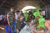 78 orang prajurit Kowad  Kodam Sriwijaya donor darah