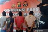Dua pemuda yang ditangkap di Dasan Agung Gapuk terkait kasus sabu ditetapkan jadi tersangka