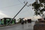 Sembilan tiang listrik di Pati nyaris rebah diterjang puting beliung