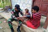 Yonif 509/Kostrad berikan pelayanan kesehatan kepada warga perbatasan RI-PNG