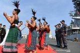 Dua kapal perang Indonesia menjalani misi diplomasi tiba di  Timor Leste