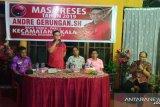 Reses di perbatasan Taas-Tingkulu politisi Andre Gerungan banjir aspirasi