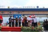 Presiden Joko Widodo resmikan jalan tol pertama di Kalimantan