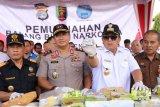 Gubernur Arinal pimpin pemusnahan barang bukti narkoba