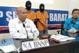BNN Provinsi Sulbar gagalkan pengiriman setengah kilogram sabu dari Malaysia