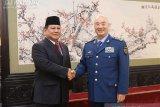 Prabowo lakukan kunjungan kehormatan ke Wakil Ketua Komisi Militer China