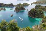 Kapal Pesiar Aqua Blu kandas di terumbu karang Raja Ampat