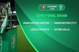 Piala Liga Inggris -- Derby Manchester tersaji di semifinal