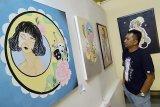 Pameran di Taman Budaya Kalsel dihiasi lukisan gadis-gadis cantik