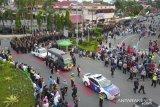 Ratusan personel Polda Riau antar pemakaman Brimob gugur di Papua
