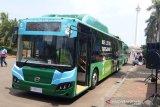 Bus listrik gratis Transjakarta beroperasi di Monas