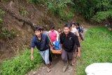 Sebelum terjun ke sungai, bus Sriwijaya diduga tabrak beton