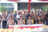 Menjelang Tahun Baru, Polda Metro Jaya sita hampir satu ton narkoba