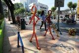 Pembangunan pedestrian di Surabaya lambat akibat kesalahan kontraktor