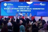 Presiden Jokowi resmikan BLK Komunitas se-Indonesia di Kendal