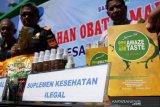 Pemusnahan barang bukti sitaan BPOM Makassar
