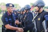Personel Brimob Polda Kalteng kembali dari Papua dengan selamat