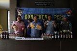 Polres Bantul sita narkotika dan ratusan botol minuman keras selama Desember