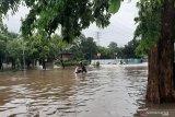 Nekat lintasi banjir, belasan mesin motor mati