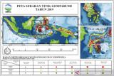Sepanjang 2019, Sultra alami 1.057 gempa bumi