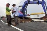 Jalan Lingkar Pati yang baru dioperasikan amblas