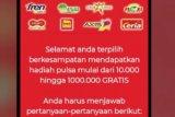 Awas, penipuan kuota internet gratisan via WhattsApp