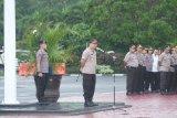 Kapolda Banten memimpin apel terakhir sebelum berpindah ke Polda NTB