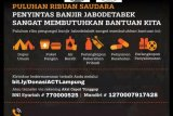 ACT bersama  Gaspool Lampung galang dana peduli banjir Jabodetabek