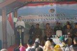 Presiden Jokowi sebut penyerahan sertifikat simbol Natuna merupakan wilayah RI