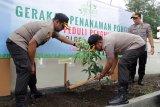 Polres Cilacap tanam 600 bibit pohon secara serentak dukung