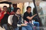 Megawati dan Hasto pantau Rakernas I PDIP di Jakarta
