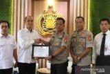 KPU berikan penghargaan kepada Polresta Denpasar