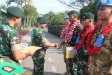 Batalion Infantri Raider 100/PS sambut Satgas Kontingen Garuda