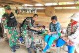 Yonif 713/ST gelar pelayanan kesehatan keliling di Kampung Skouw Mabo Jayapura