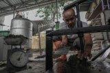 Pengolahan sampah organik menjadi batu bata