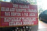 Banyak cara mendukung bereskan kasus Jiwasraya, salah satunya karangan bunga