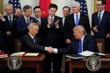 Amerika dan China tanda tangani perjanjian perdagangan fase 1