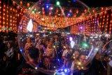 Lampion di kawasan Pasar Gede Solo