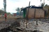 Polsek Kaureh selidiki kebakaran yang menghanguskan tiga unit rumah