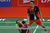 Fajar/Rian sumbang kemenangan  ketiga bagi timnas Indonesia