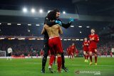 Salah telanjang dada usai cetak gol ke Manchester United