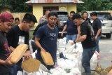 Polisi amankan tiga tersangka pengedar ganja sampai ke Sumatera