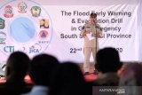 JICA dan BNPB berikan pelatihan peringatan dini evakuasi banjir sungai