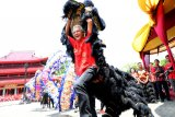 Ganjar jadi pemain barongsai perayaan Tahun Baru Imlek