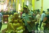 Kapolda Sumut tertarik Patung Budha di Wihara Setia Budi Medan