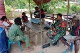Babinsa ajak warga Kampung Tomerau Merauke menjaga kesehatan