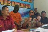 Peras dua remaja, residivis ditahan di Polres Magelang Kota