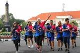 Gubernur Jateng lari 10 kilometer dukung penyintas kanker