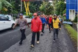 Kapolda Sulut bersama siswa SPN jalan sehat  di  Minahasa Utara